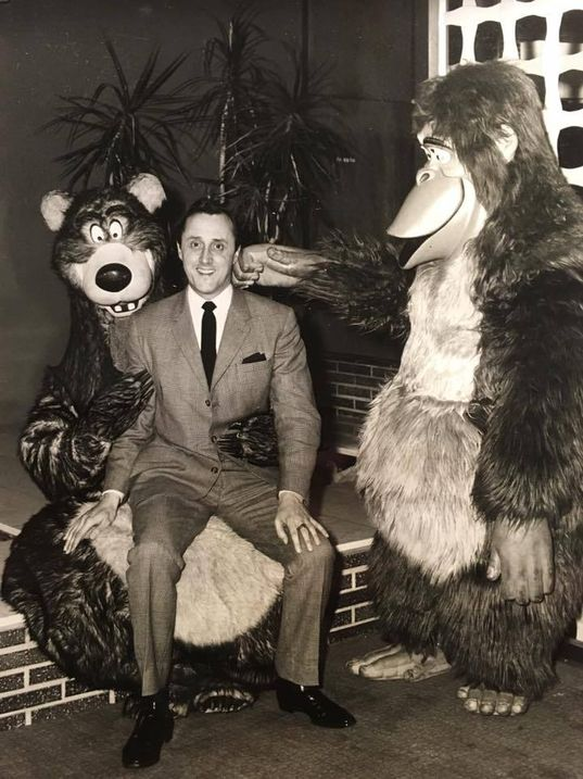Guildford Odeon Manager Bryan with actors promoting Disney film, this time The Jungle Book released in 1967.