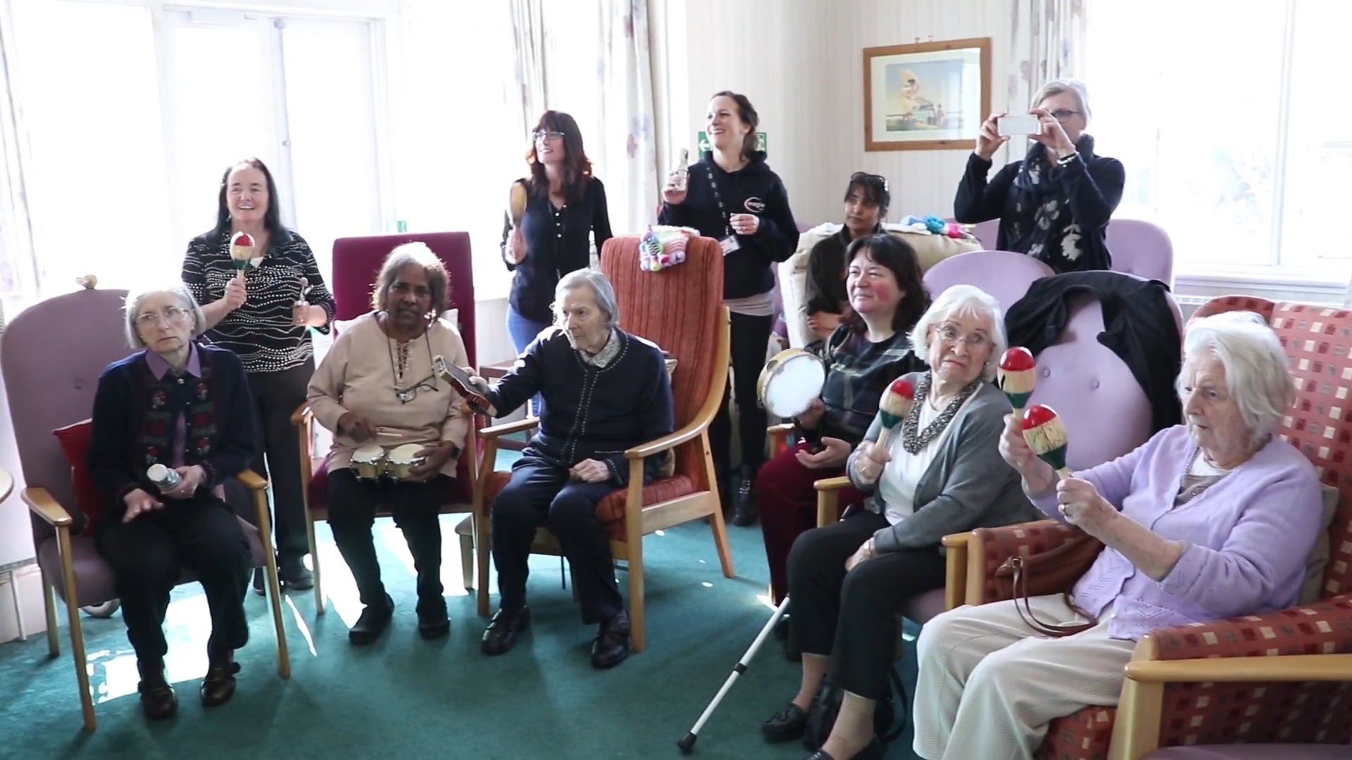 Brighton Hill School Basingstoke Steel Drum Band Grants Dementia Sufferer's Last Wish at Chertsey's Orchard Dementia Centre