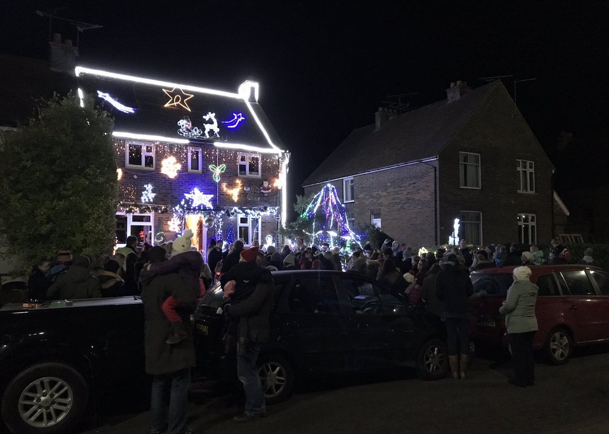 A huge display in Farnham for last year's Christmas Lights Switch Ons.
