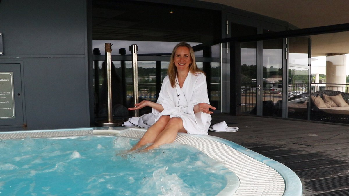 Brooklands Hotel and Spa have a whirlpool Jacuzzi that overlooks the Mercedes Benz World race track opposite the hotel - it makes Brooklands Hotel and Spa one of the best things to do in Surrey.