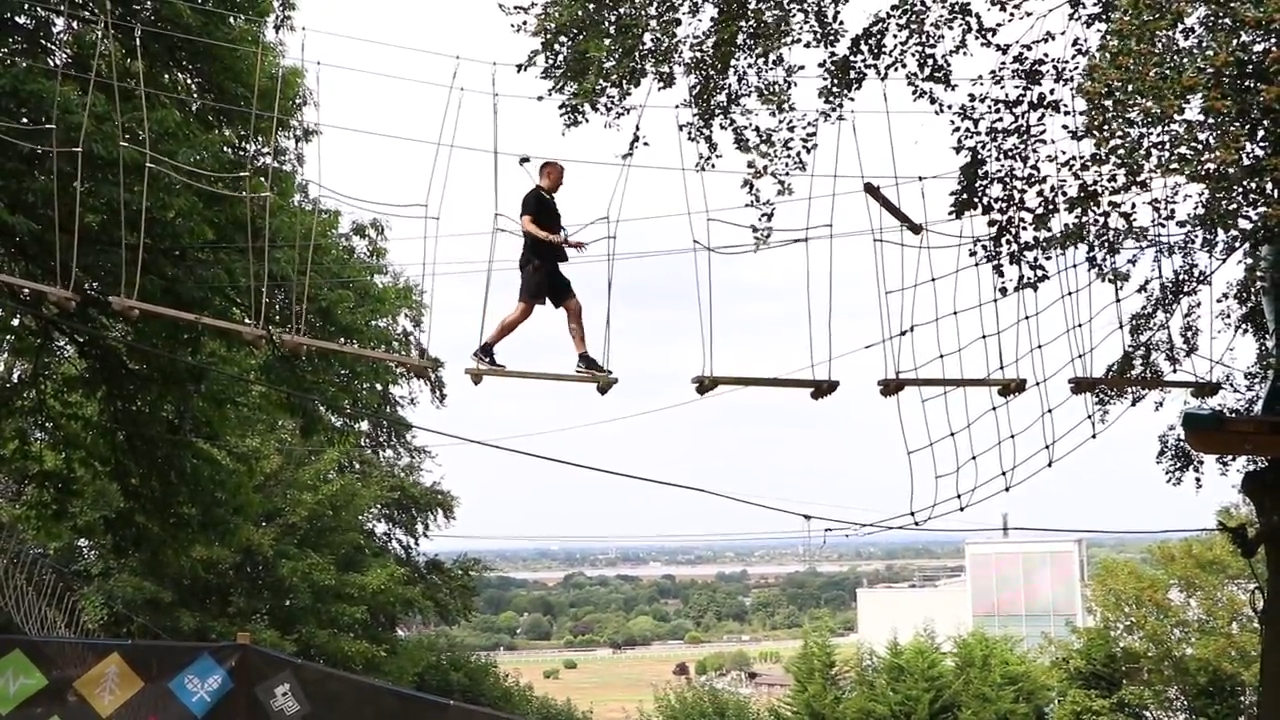 Have a go at the treetop adventure at Skywalk Adventure is one of the things to do in Surrey with your family