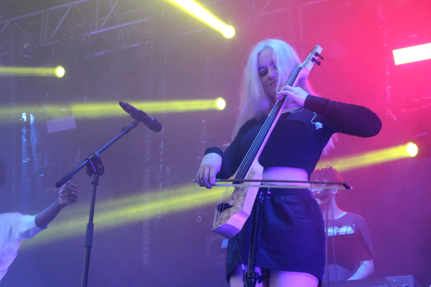 Clean Bandit perform on the main stage at Warwick University's Free Festival For Undergraduates, The Warwick Summer Party in 2014.