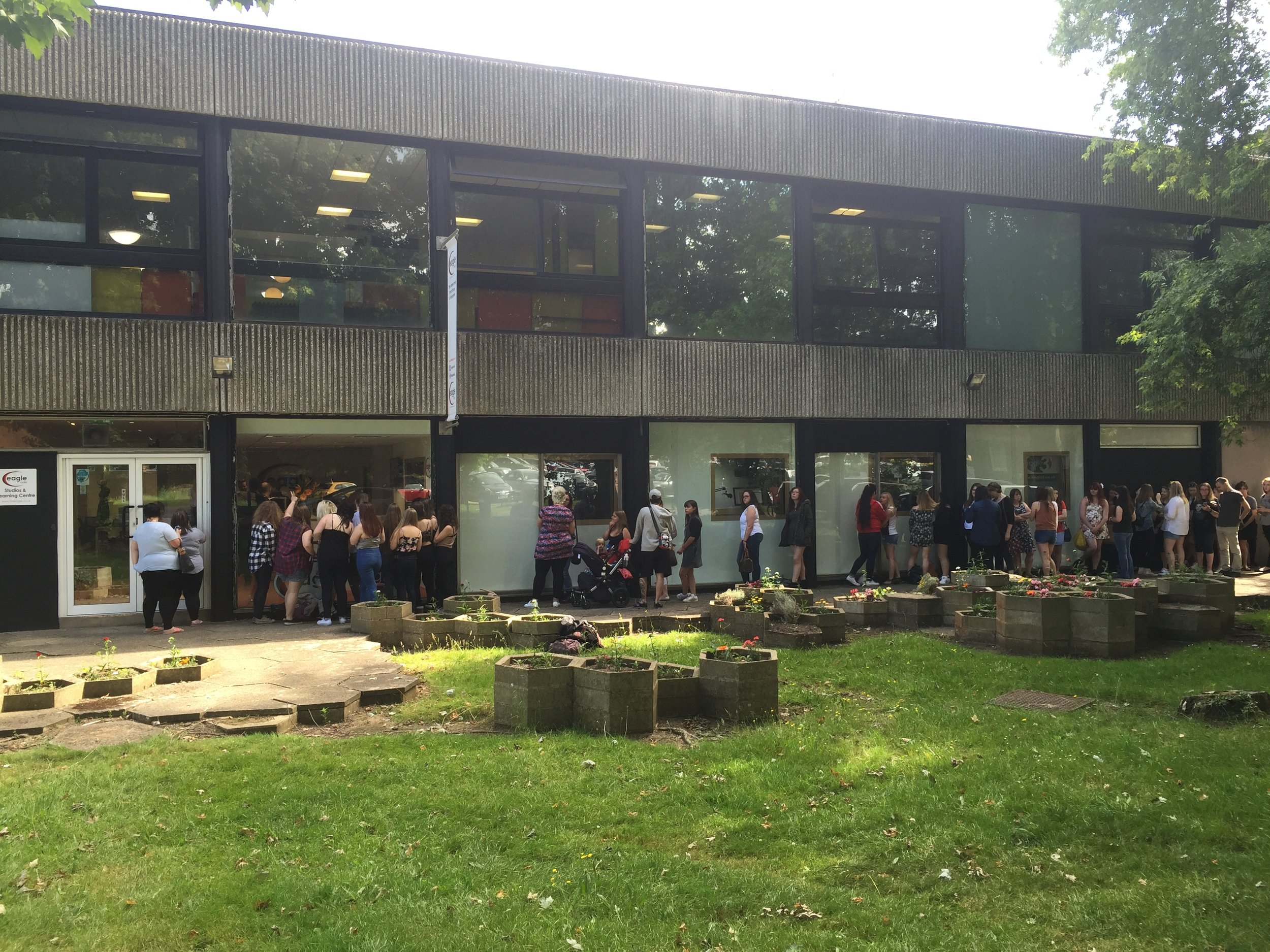 Olly Murs visits Guildford College to meet fans after a special performance at Eagle Radio