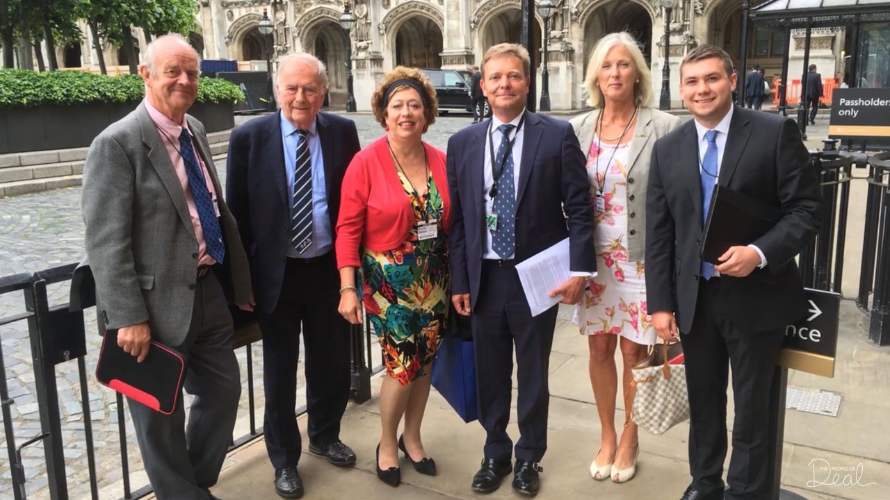 Fiona Punter and Joanna Thomson of the Goodwin Sands SOS Campaign Visit Parliament