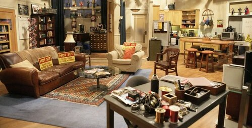 Which sitcom includes this living room crowded with knick-knacks?