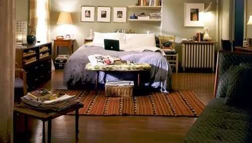 Which sitcom included this bedroom set that we have seen many times?