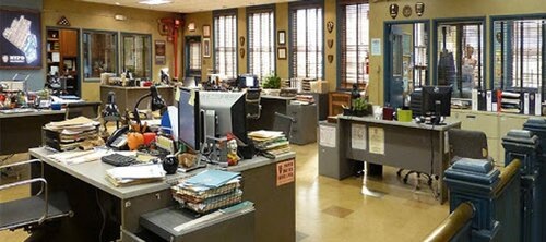 Which sitcom is set in this famous workplace?