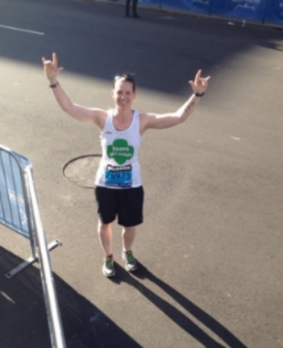 Just steps from the finish line-2014