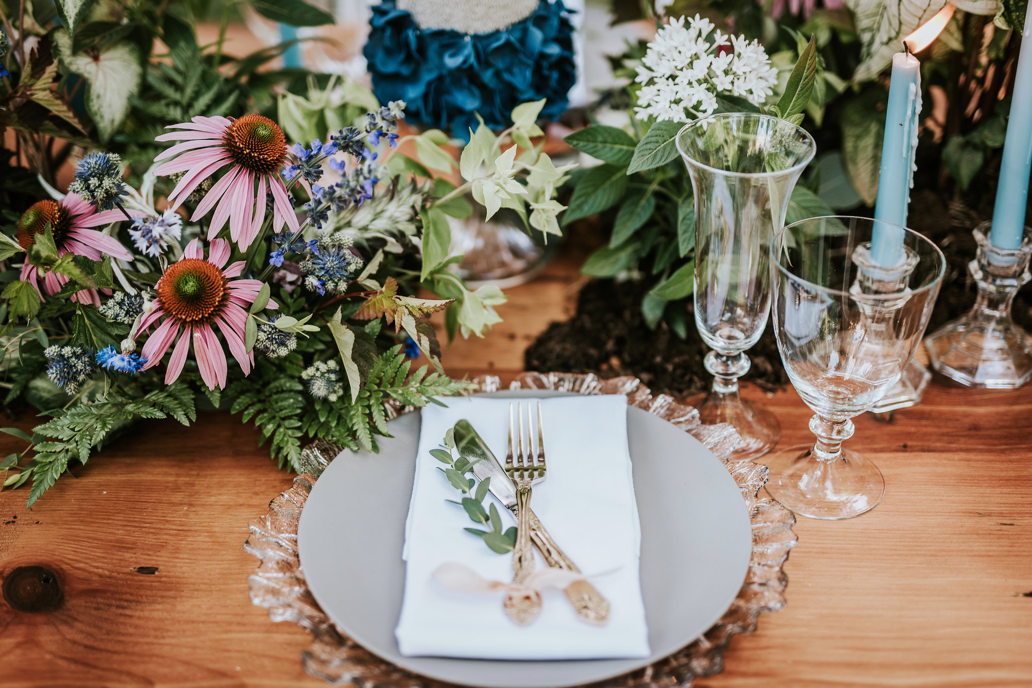 Image by  M2 Photography  * Floral by  Belovely  * Table Setting by  Party Rental LTD