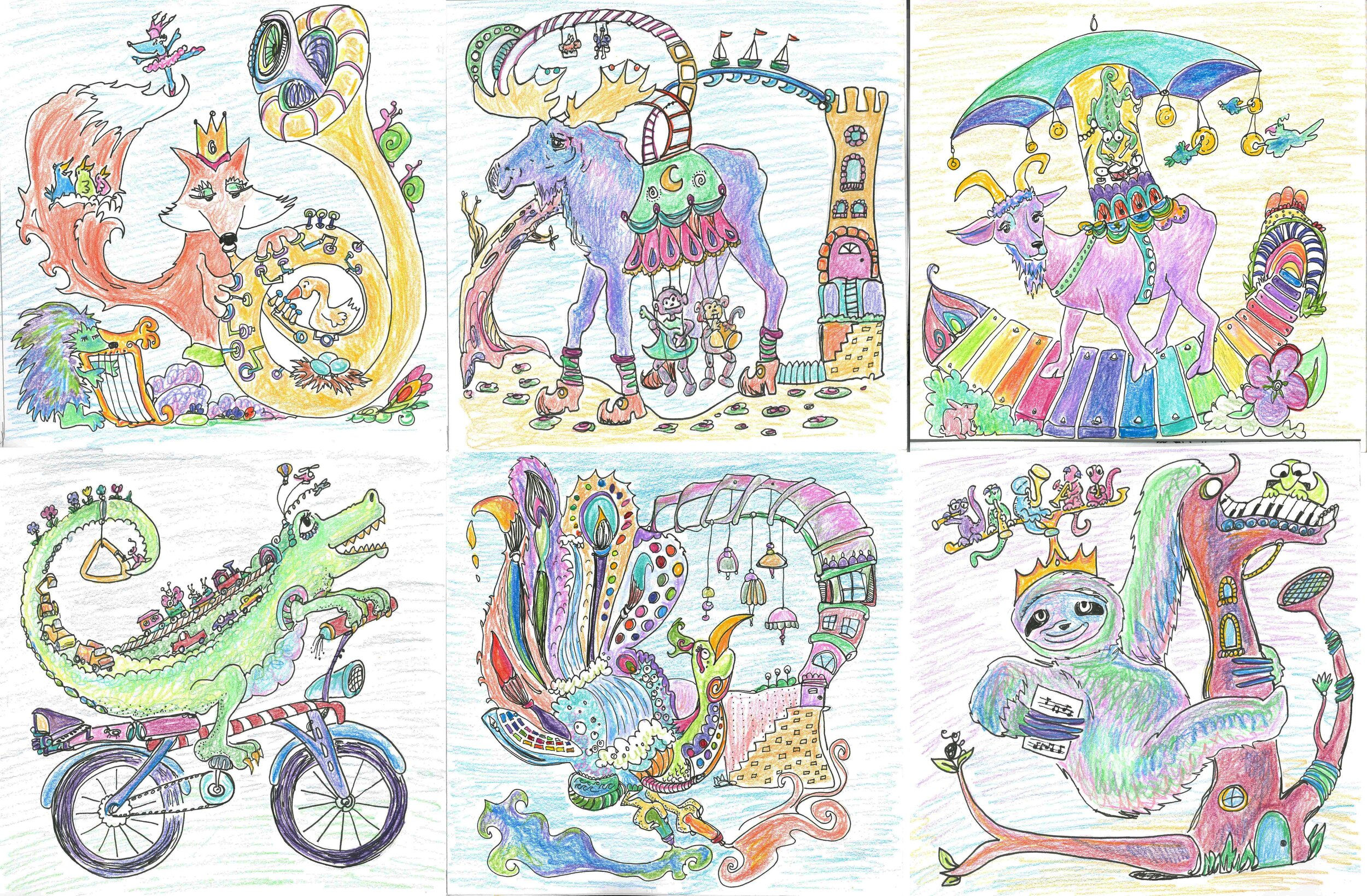 All six, original submitted sketches.