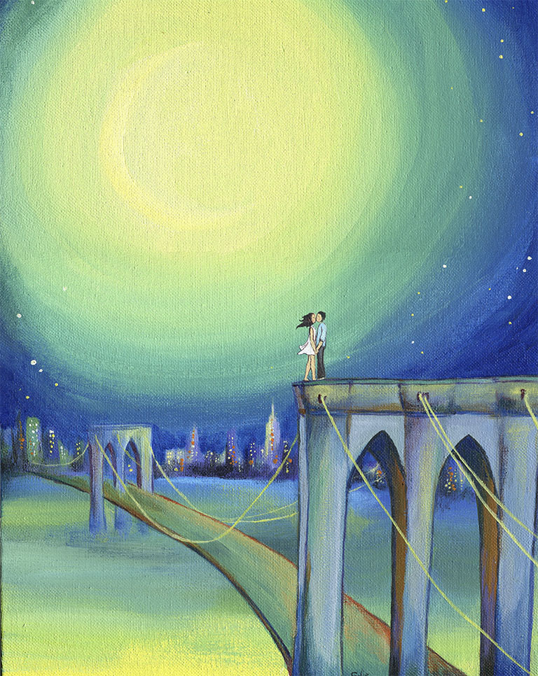 Lovers on the Bridge
