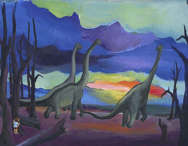 Dino watching