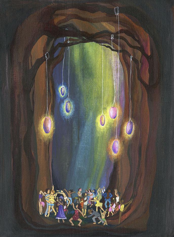 """Alors on Dance. 2015 acrylic on canvas 12x16"""""""