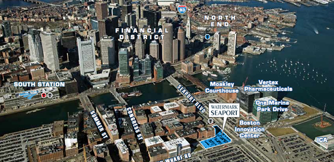 Location | Watermark Seaport, 85 Seaport Blvd, Boston