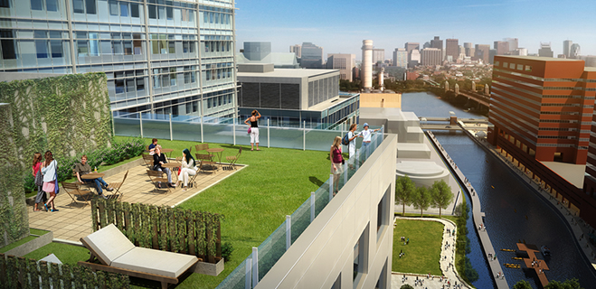 Roof Terrace | Watermark Kendall West, 350 Third St, Cambridge, MA