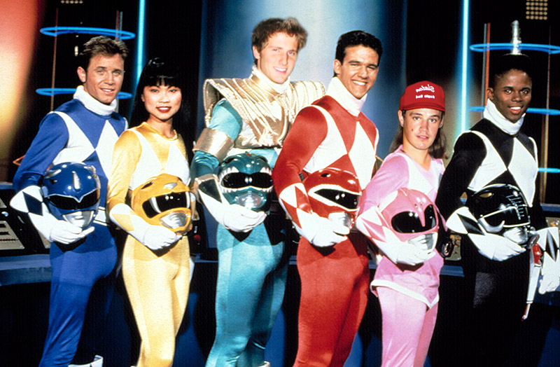 Arguing over which Power Ranger we would be, I made this one for my friend John (in the red hat.)