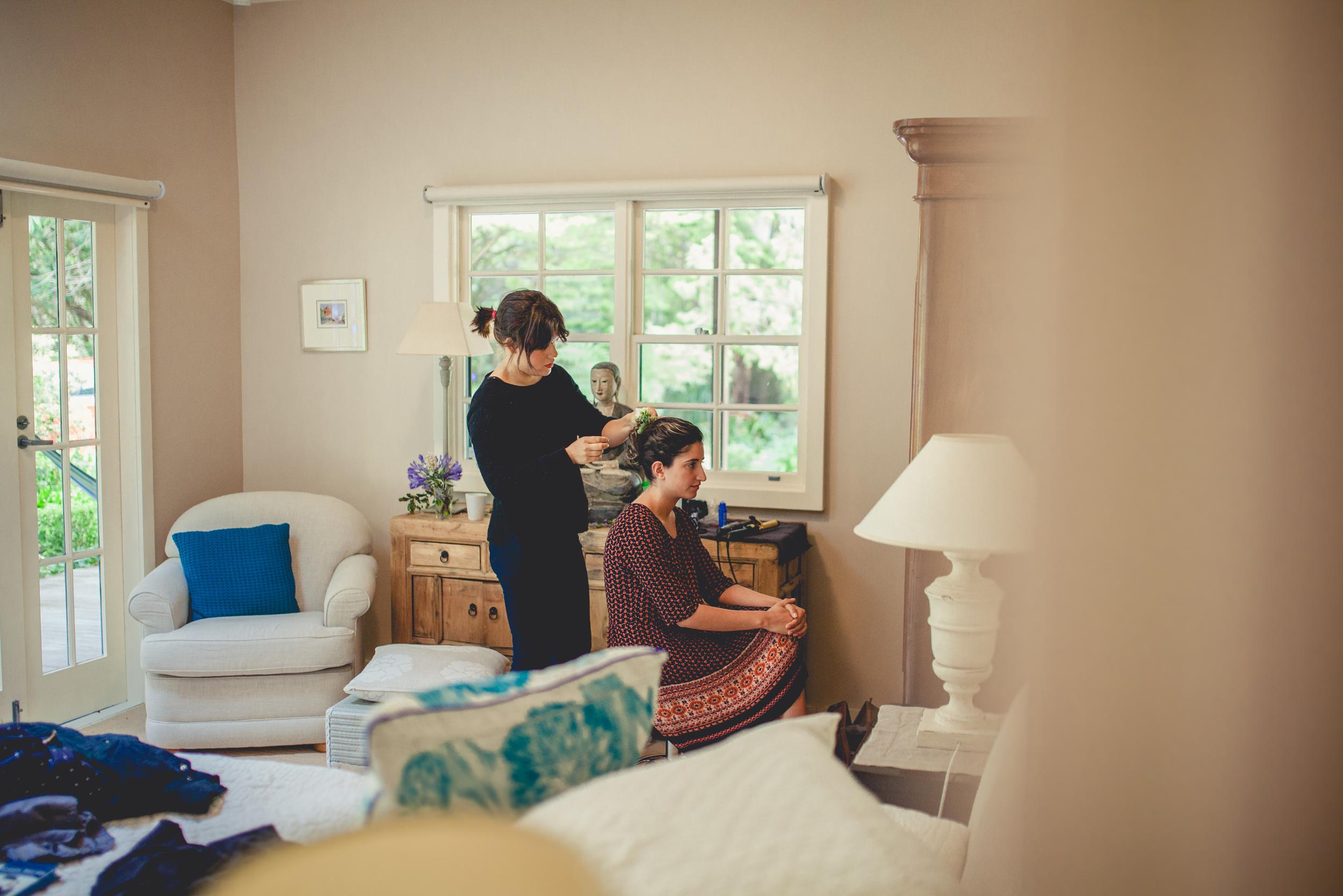 Bridal Hair Blue Mountains. Nail & Twine Photography