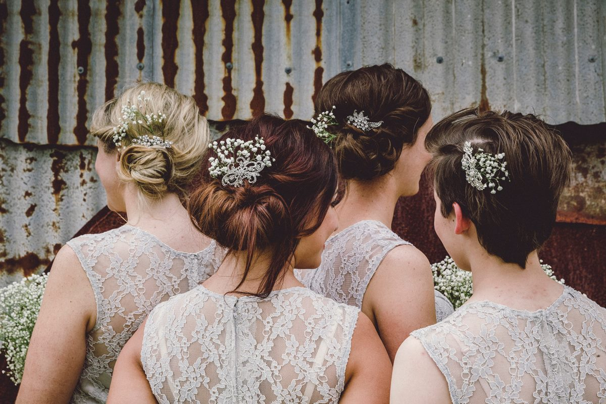 Bridal Upstyles rustic wedding