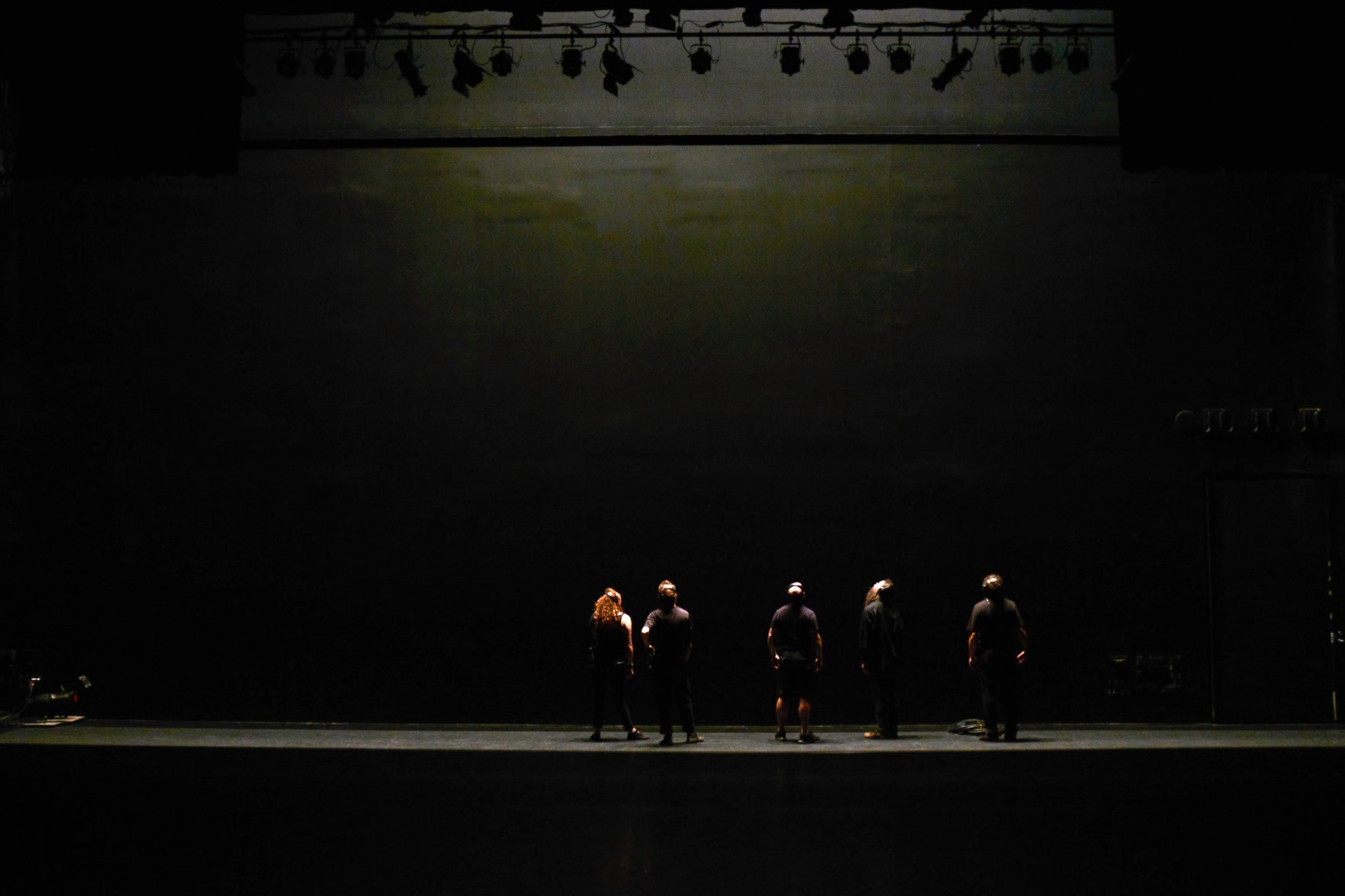 L to R: Emily McGillicuddy, Ross Orenstein, Christian Gaylord, Andy Kedl, Phillip O'Toole. Photo: Gene Pittman, Walker Art Center.