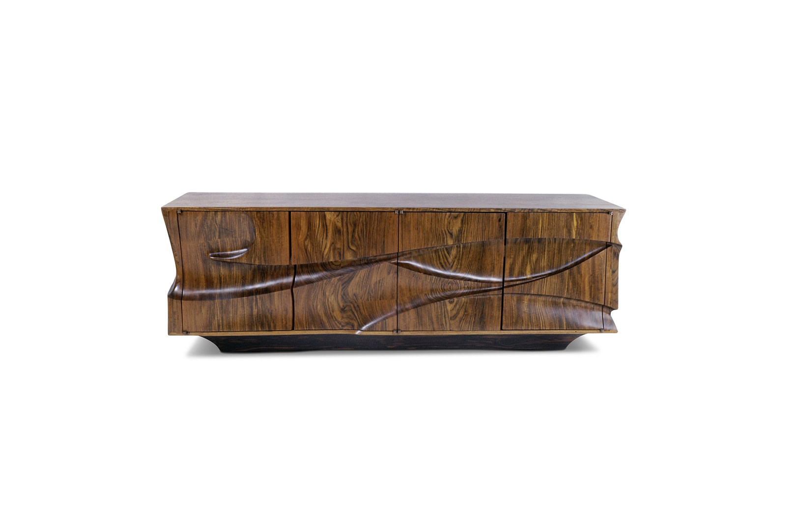 """Swahili II"" Credenza, designed 1972  African Mozambique.  25 x 84 x 24 in."