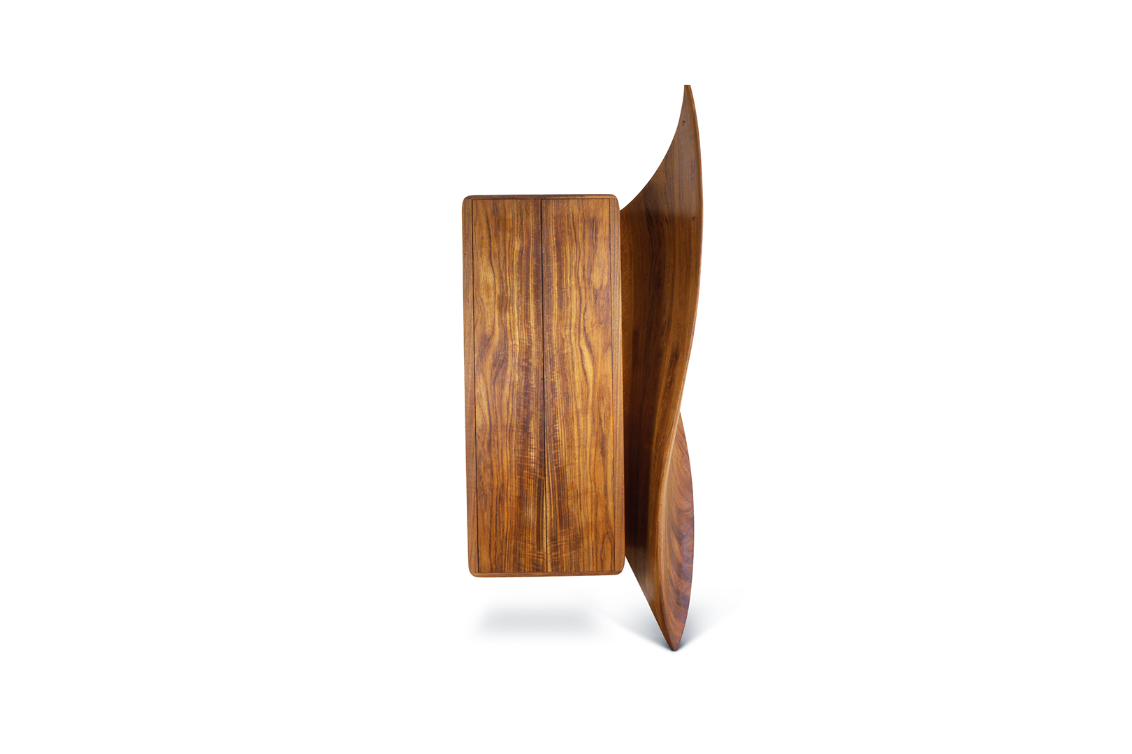 """Touch and Go I"" Wall Cabinet , designed 1989  African Mozambique.  93 x 39 x 23 in."