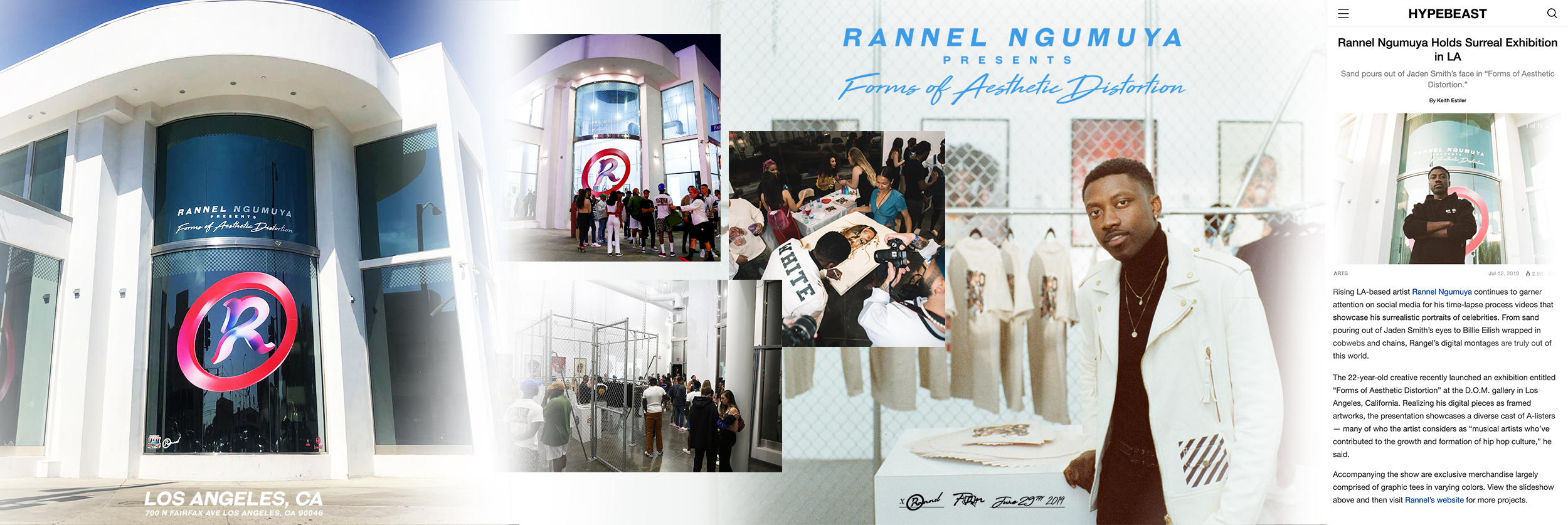 Rannel Ngumuya Gallery on 700 N Fairfax Ave. in partnership with F.O.N Agency, Lomotif, & DOM Gallery. ( Grand opening on June 29th, 2019 )