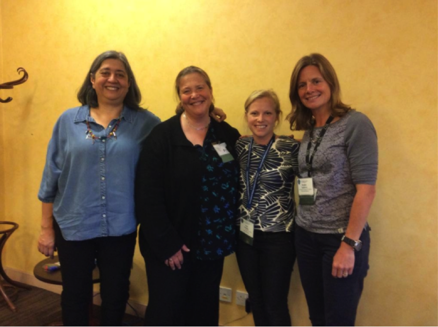 The four female plenary speakers (L-R): Drs. Patricia Majluf, Amanda Vincent, Emily Darling, and Heather Koldewey (photo courtesy of Dr. Patricia Majluf, via Twitter @panchoveta)