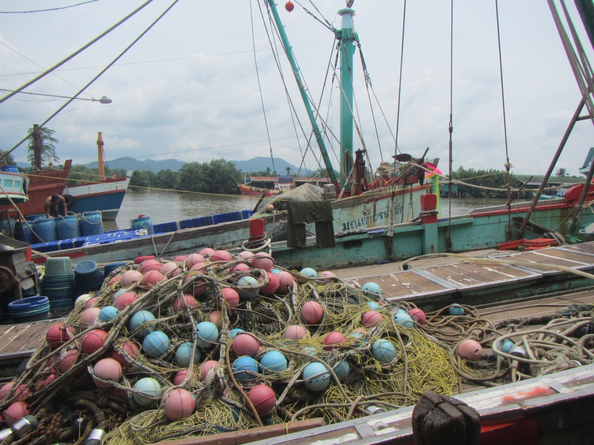 Fisheries in Thailand.   Photo by Lindsay Aylesworth/Project Seahorse.