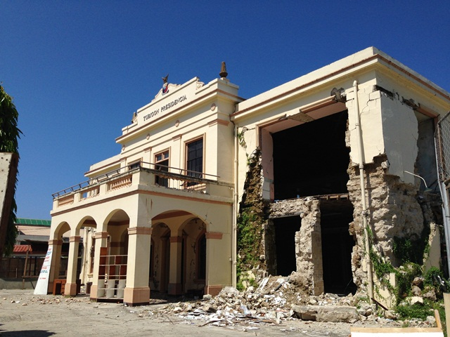 The devastated municipal hall at Tubigon.  Photo: ZSL