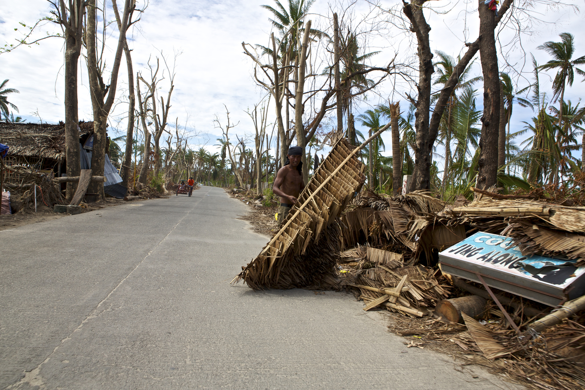 People on Bantayan Island are collating anything they can to rebuild their lives after Typhoon Yolanda's wrath.  Photo by Steve de Neef