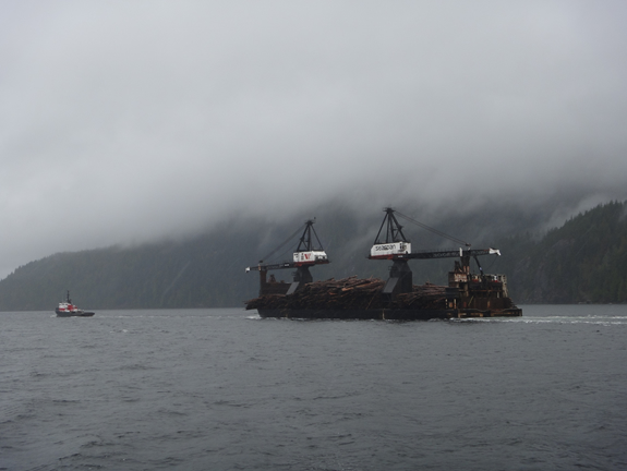 View from 2nd ferry to the Bamfield Marine Science Center