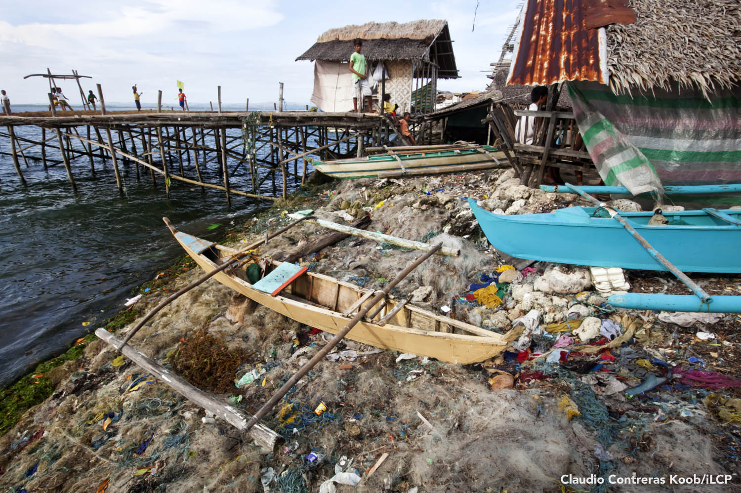 On Danajon Bank, more people means more garbage. Discarded fishing nets litter many beaches, including this one on Guindacpan Island. Claudio Contreras Koob/iLCP