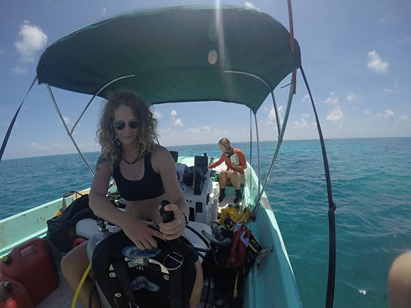 I had four amazing research assistants while working in Biscayne National Park. Here we are getting ready for a dive at one of the coral reef sites. My assistants had a wealth of local knowledge about important ocean issues in South Florida, and thankfully for my research, a keen eye for spotting seahorses and pipefish.