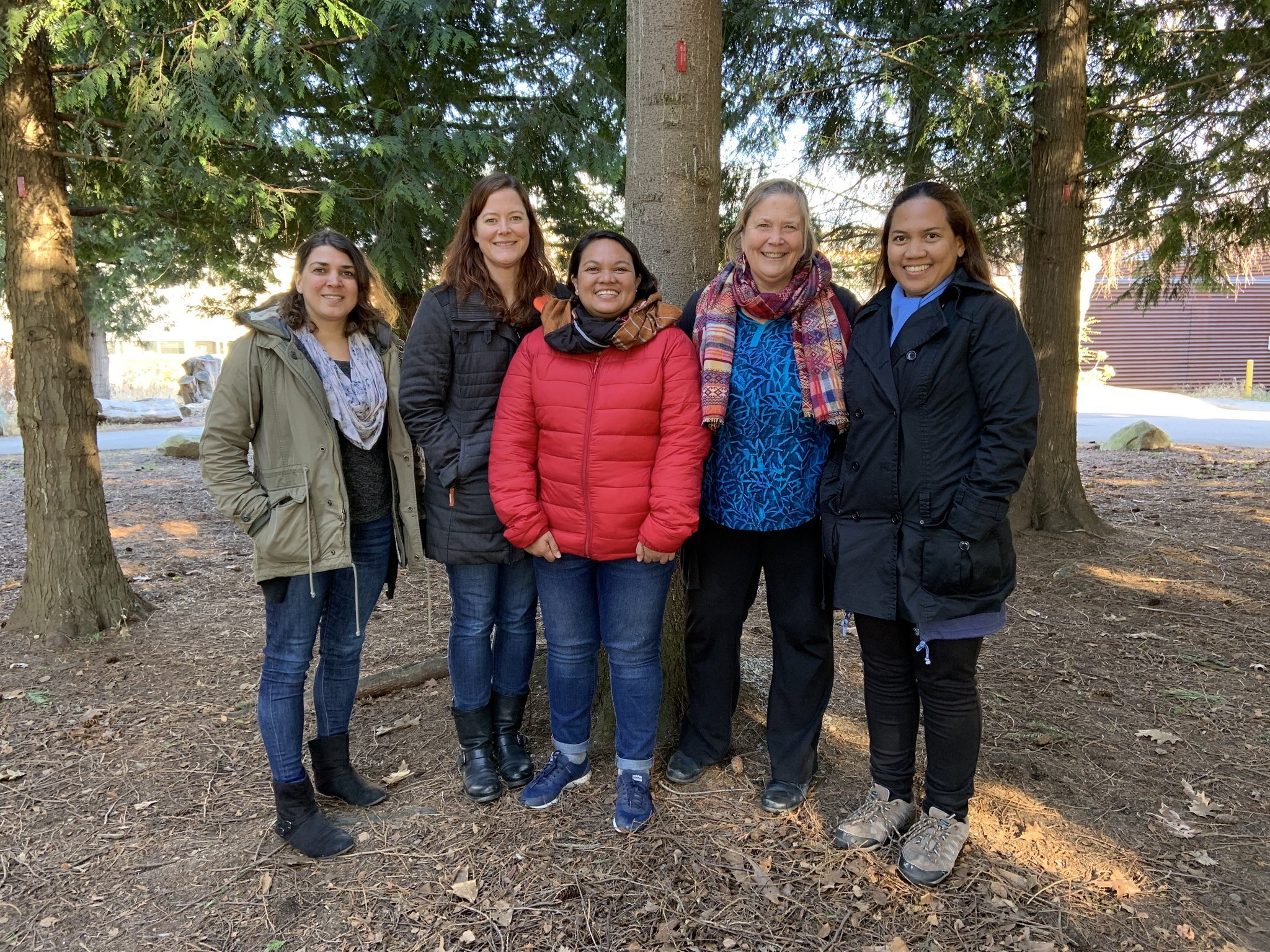 The research team: Lily Stanton, Sarah Foster, Angie Nellas, Amanda Vincent and Myrtle Arias.