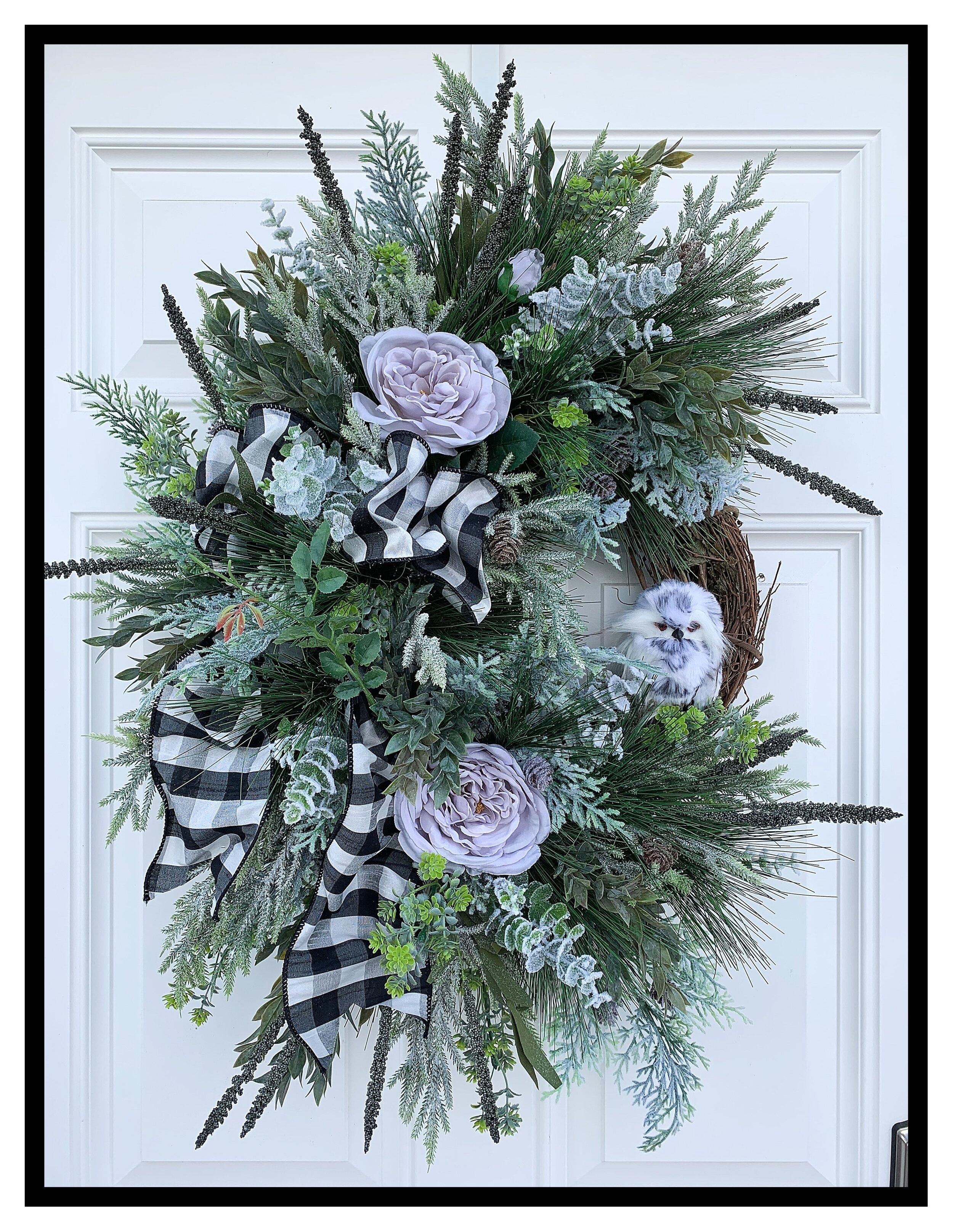 Christmas Door Swags Elegant Christmas Wreaths Holiday Decorations Front Door Sugar Creek Home Decor