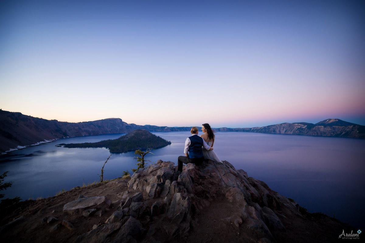 Crater Lake Wedding