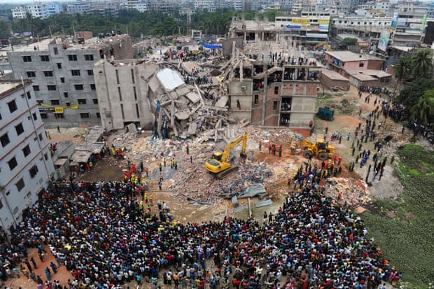 Rana Plaza collapse in April 2013. Photo: Munir Uz Zaman/AFP/Getty Images