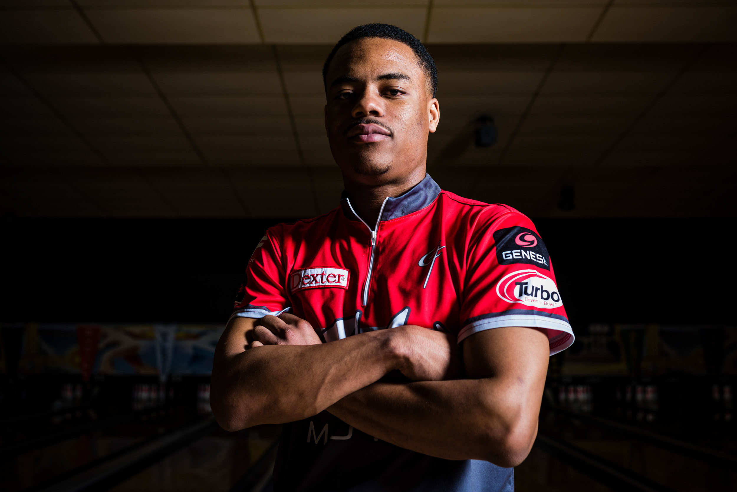 Gary Faulkner Jr. at AMF Riviera Lanes in Fairlawn, Ohio during the PBA Tournament of Champions on February 7. Dustin Franz for The Undefeated