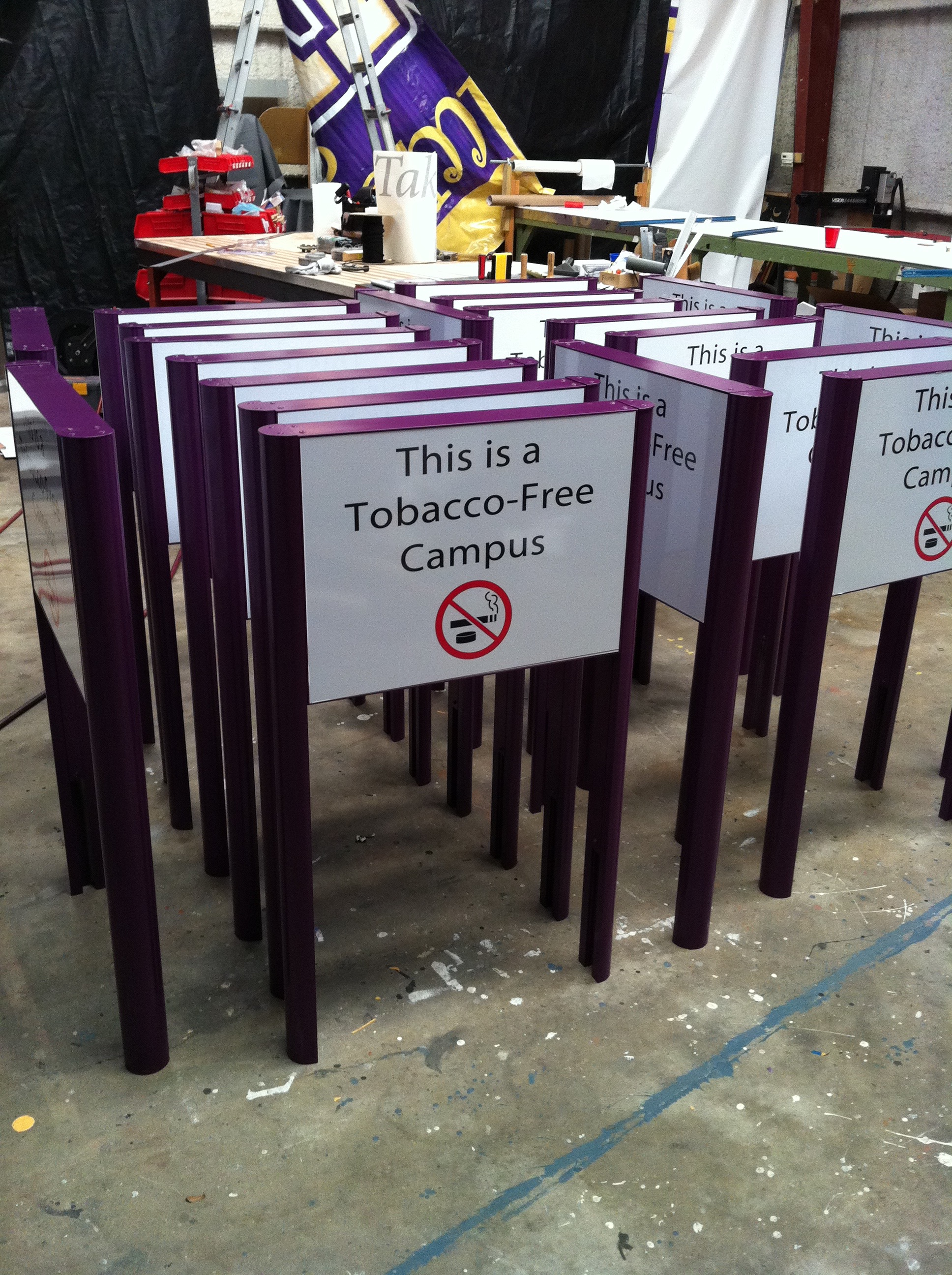 Tobacco Free Signs
