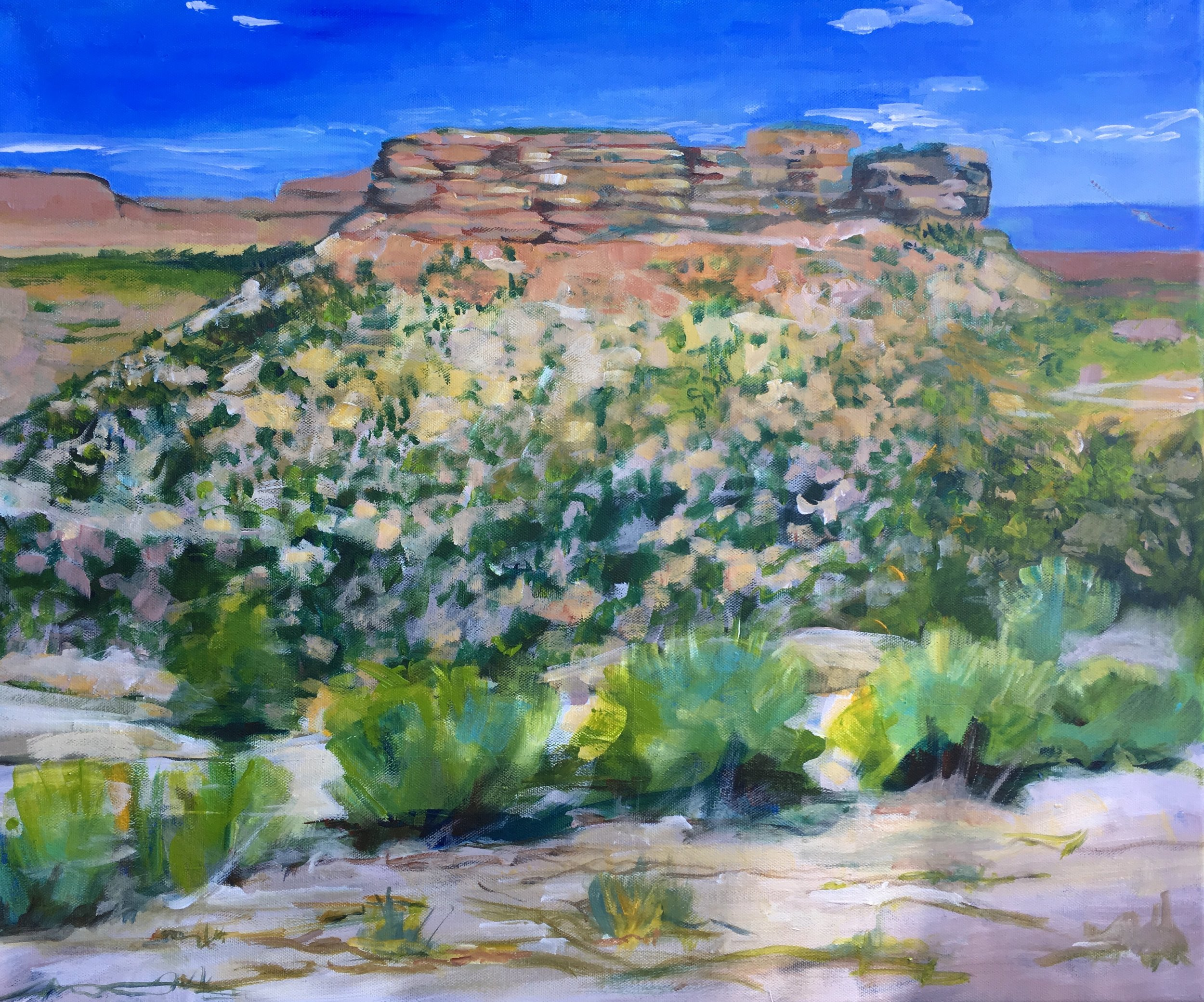 Umcompahgre National Forest, Colorado Plateau. Acrylic painting.