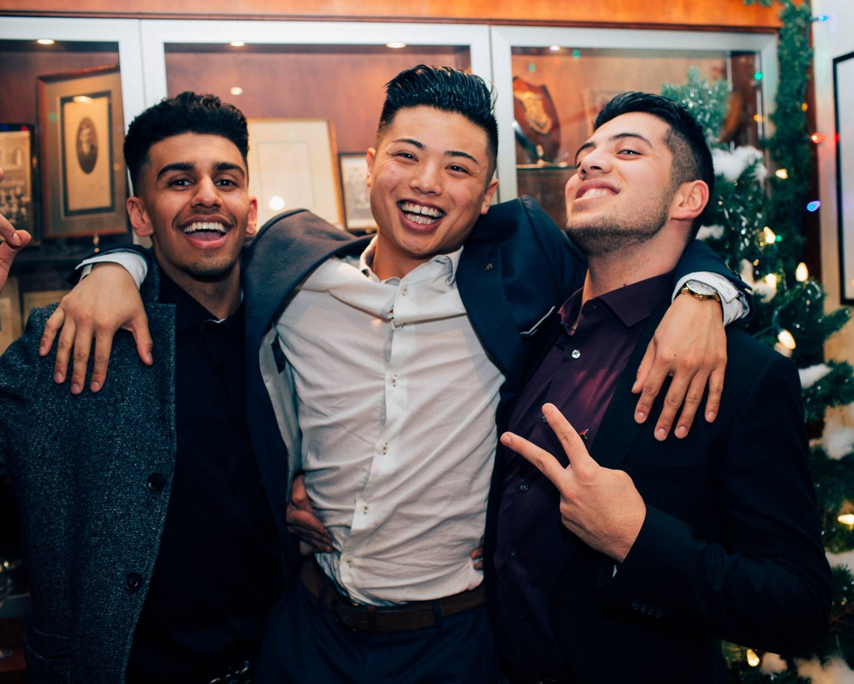 Brothers Chandra (PA '15), Torres (PA '14), and Kawasme (PA '16) at our annual Winter Semiformal