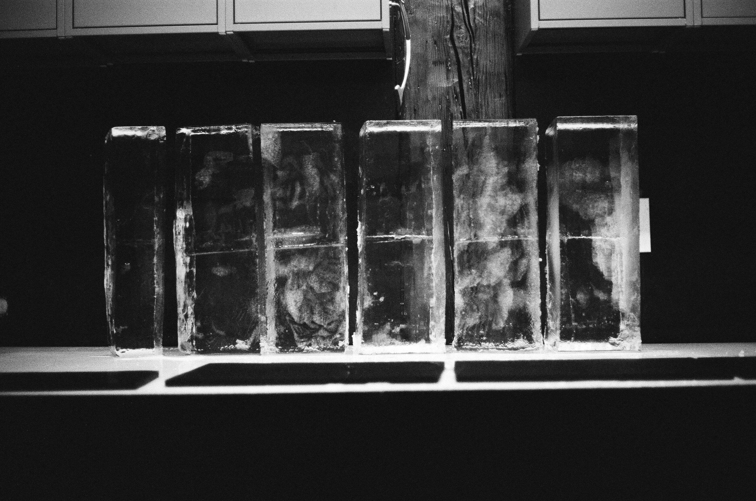 bloc de glace pour sculpture ou bar