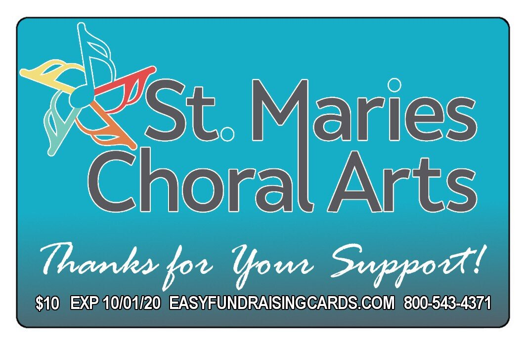2020 SMCA Discount Cards - All SMCA members of Musica, St. Maries Children Chorus and St. Maries Singers have cards to sell.Easyfundraisingcards.com made this possible.