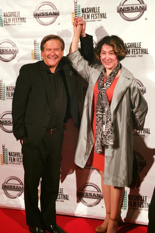 Kelly Frey with Sha Liqiong (Producer of award winning Films Flying Arrow and Camel Caravan) at the 2016 Nashville Film Festival.