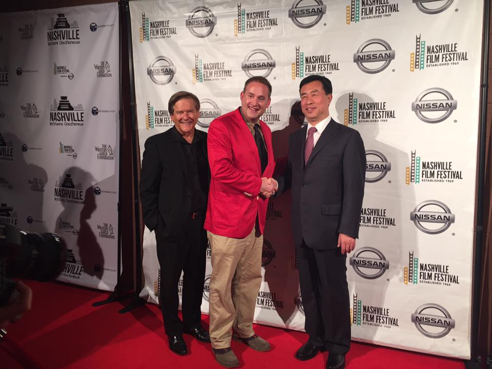 Kelly Frey, Ted Crockett (Executive Director-Nashville Film Festival) and Zhenjiang Ming (Executive Producer of the China Film Producer's Association)