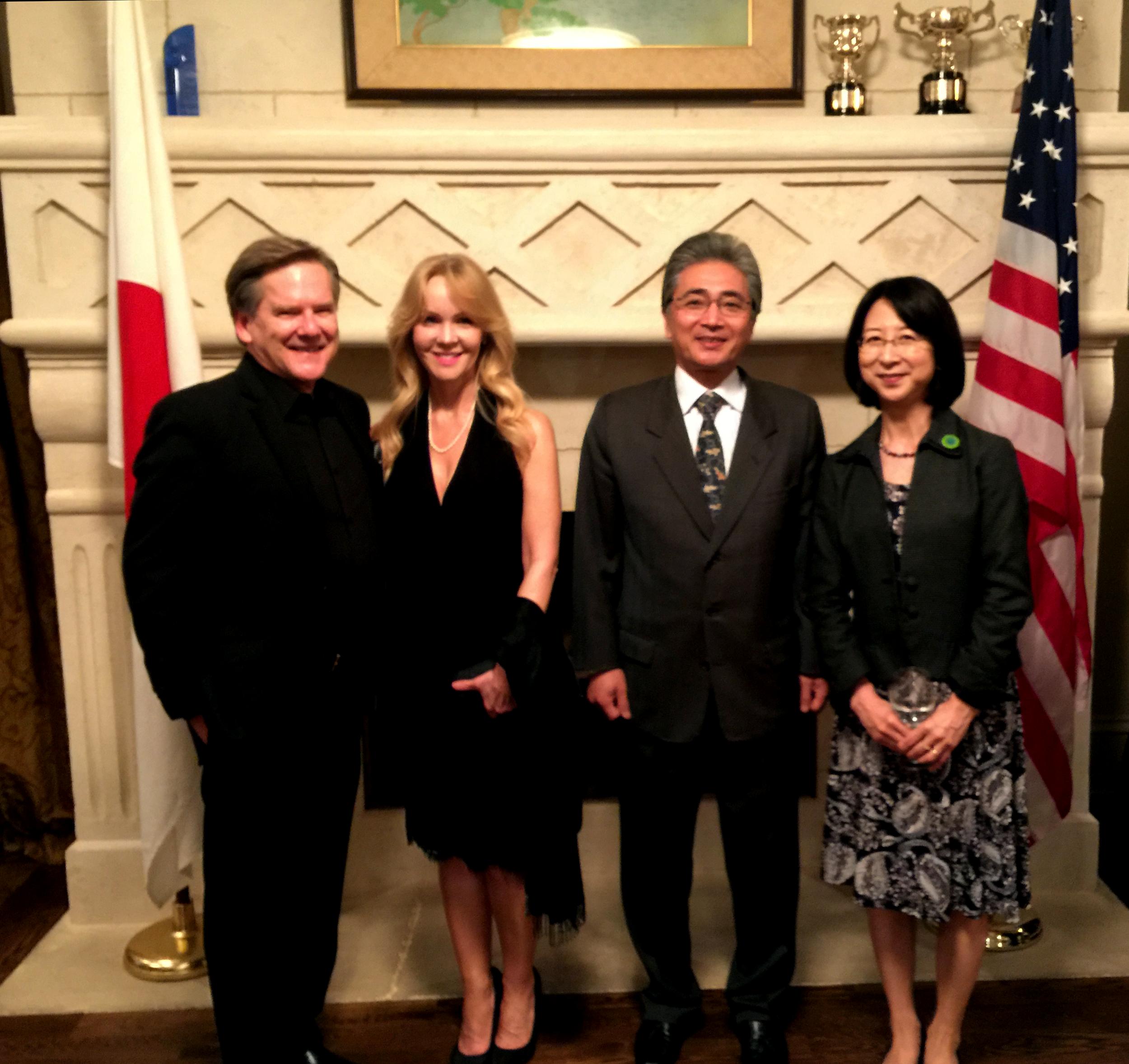 Kelly Frey, President of Movie City Films, Patti Titus, Consul-General of Japan Masami Kinefuchi and Mrs. Kinefuchi