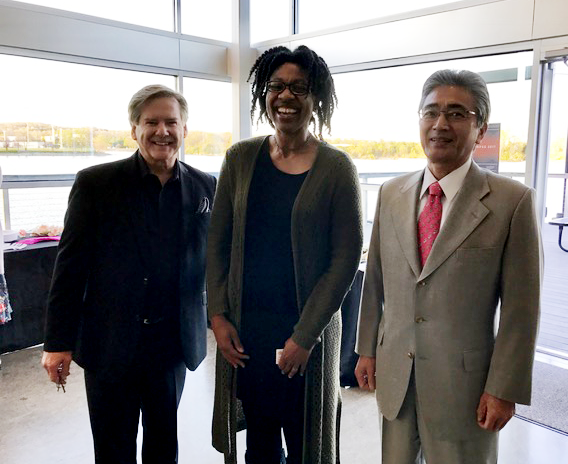 Kelly Frey (President of the Japanese Film Festival) Gisela Moore (Project Manager-Tennessee Entertainment Commission) and the Consul-General of Japan Masami Kinefuchi