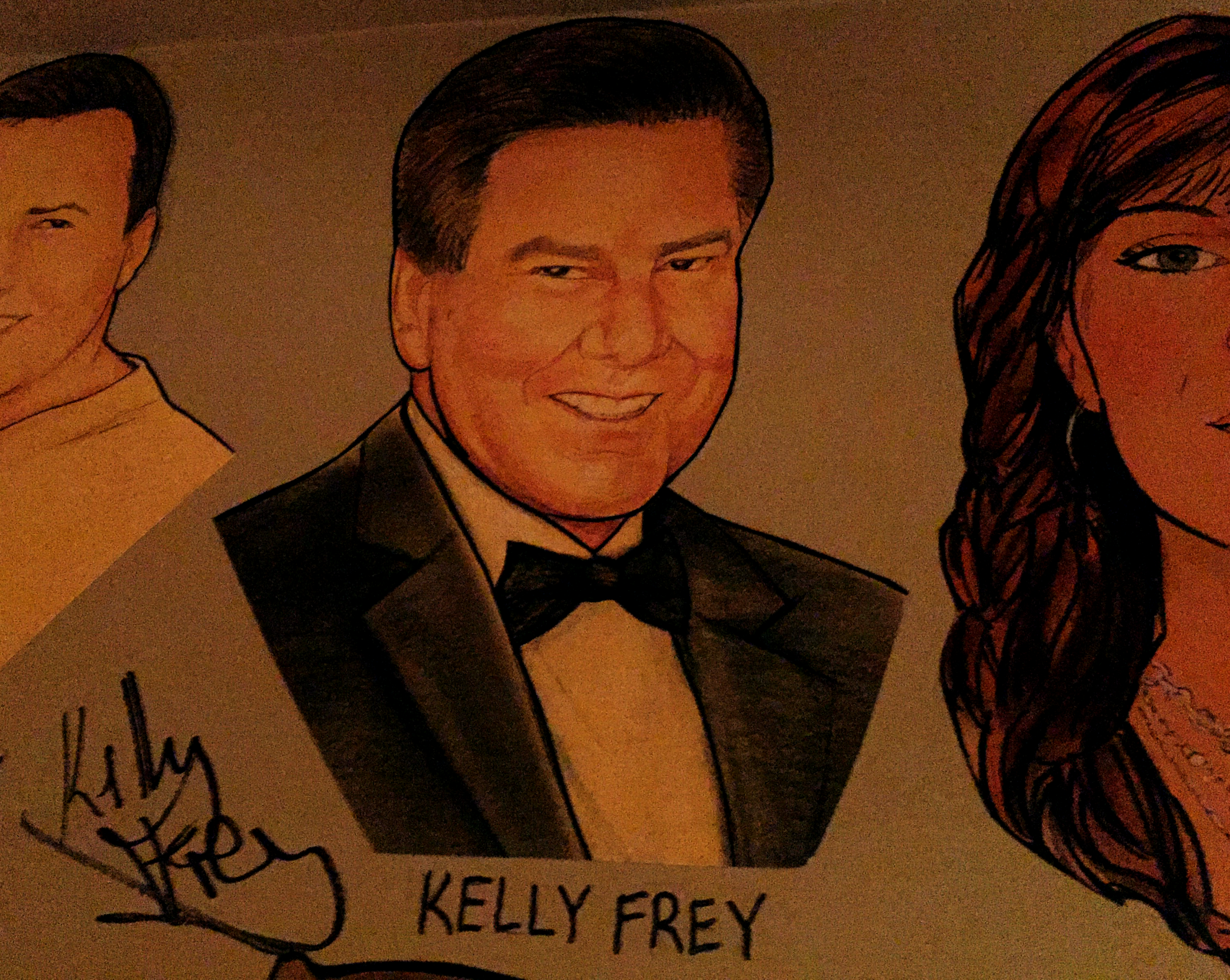 signing today for Kelly Frey's portrait at The Palm Restaurant In Nashville. April 11, 2017