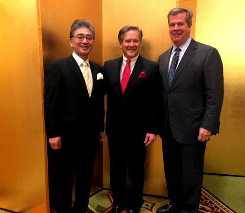Consulate-General of Japan-Masami Kinefuchi, Kelly Frey-President of Movie City Films, and former Nashville mayor Karl Dean t a reception celebrating the birthday of His Majesty the Emperor of Japan.