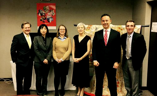 Kelly Frey (far left) meeting at the Japanese Consulate in support of the Nashville Japanese Film Festival.